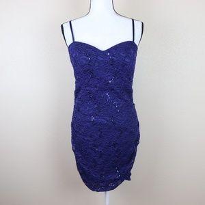Love Reign Sequin Lace Cocktail Party Dress Size L